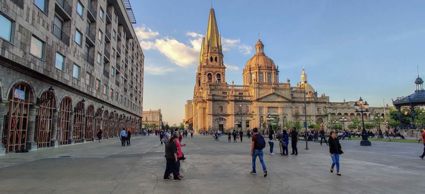 La cathedrale de Guadalajara au Mexique